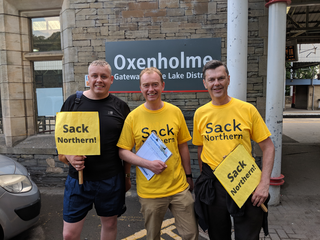 Tim with Oxenholme councillors Chris Hogg and Doug Rathbone