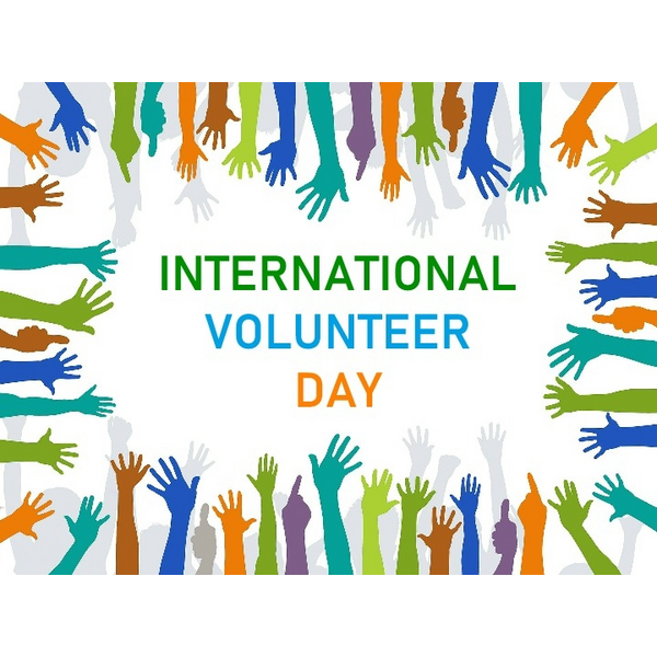 International Volunteer Day logo 2018