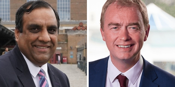 Shaffaq Mohammed and Tim Farron