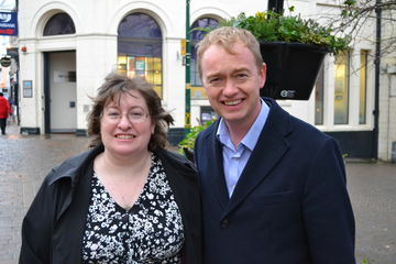 Loraine Birchall and Tim Farron